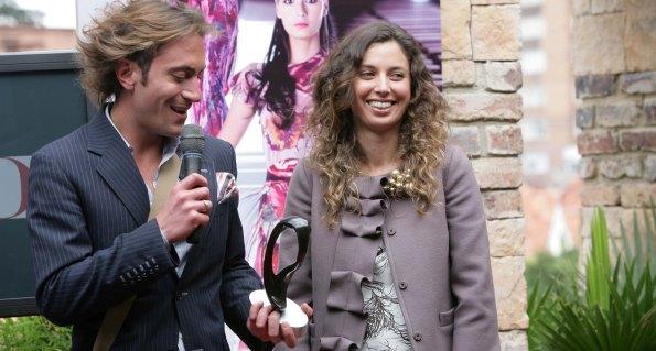 Francisco Leal y Karen Daccarett (Mejor diseñador en Plataforma K) - Premios Cromos de la Moda 2009